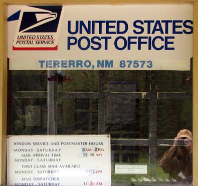 Tererro, NM post office in the middle of the Pecos Wilderness