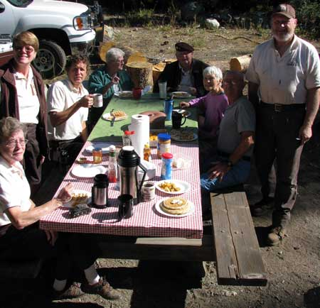 All the campground hosts in the Downieville area.