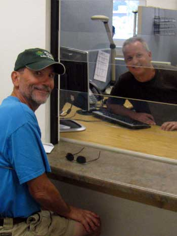 Dale submitting his application for Social Security