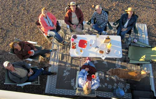 Our birthday party at Happy Hour in the Arizona desert