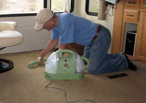 This is the way to clean an RV carpet