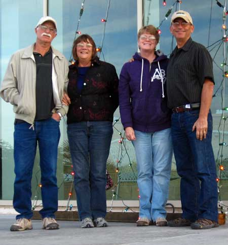 Terry, Kathy, Gwen and Dale after a good $10.95 casino buffet Christmas dinner