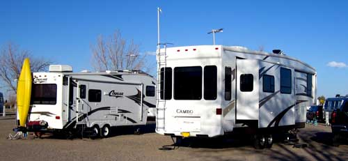 One night at the noisy Dream Catcher RV Park in Deming, NM