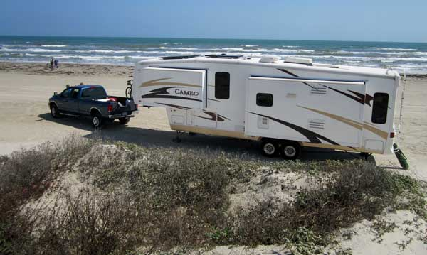 Camping on Port Aransas City Beach