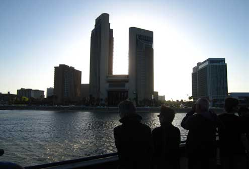 Corpus Christi skyline as the harbor tour departs