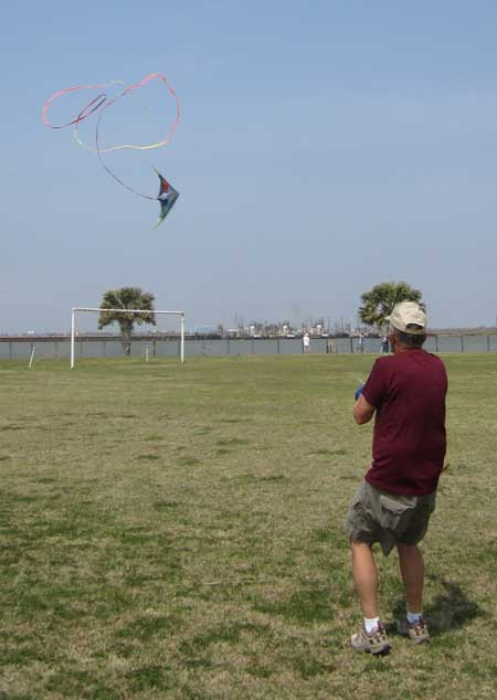 Dick from Iowa flying a sport kite