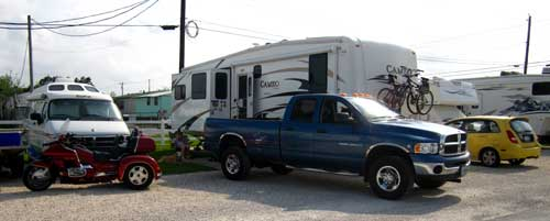 Camped at the Palm RV Park, Dickinson, TX