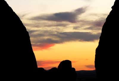 New Mexico sunset at City of Rock State Park