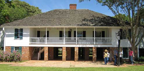 The Kent House Plantation from the rear and courtyard area