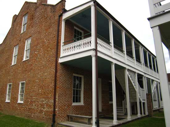 The William Johnson home in downtown Natchez