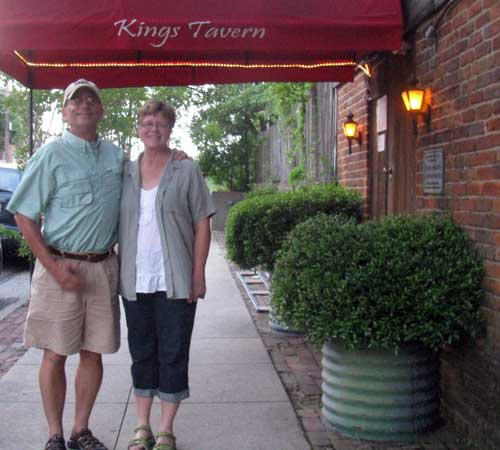 In front of Kings Tavern in Natchez