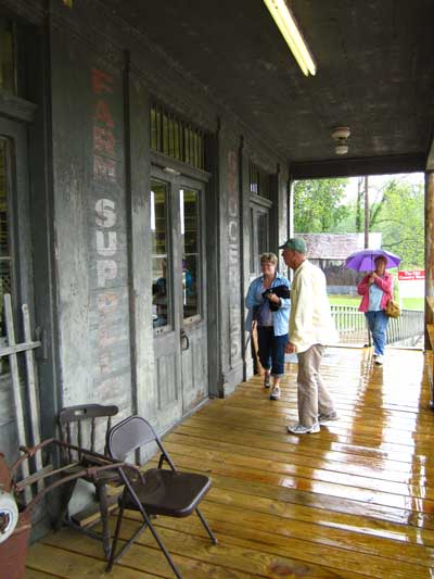 Walking into the Old Country Store Restaurant