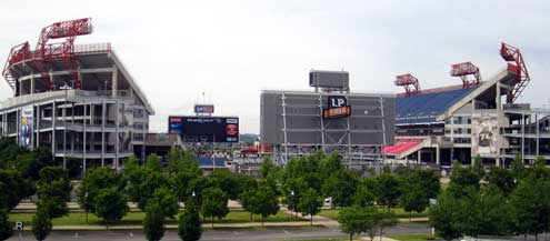 LP Field where the Tennessee Titans play, it would be great to see a game here.