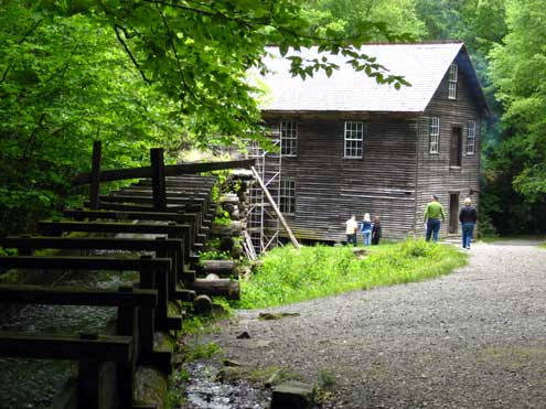 1886 Grist Mill just west of Cherokee, NC
