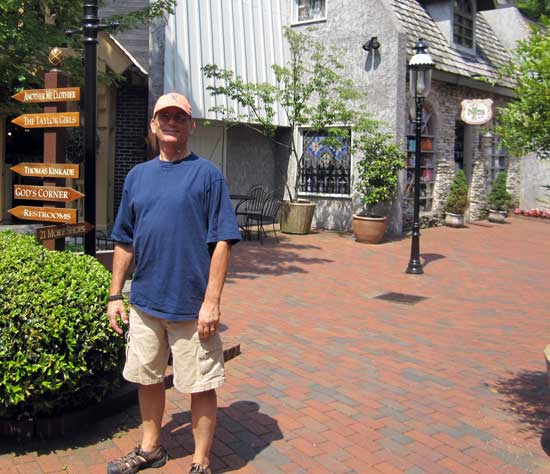 "Dale at a ""little shops"" mall in Gatlinburg, TN, click to see the new hat I bought."
