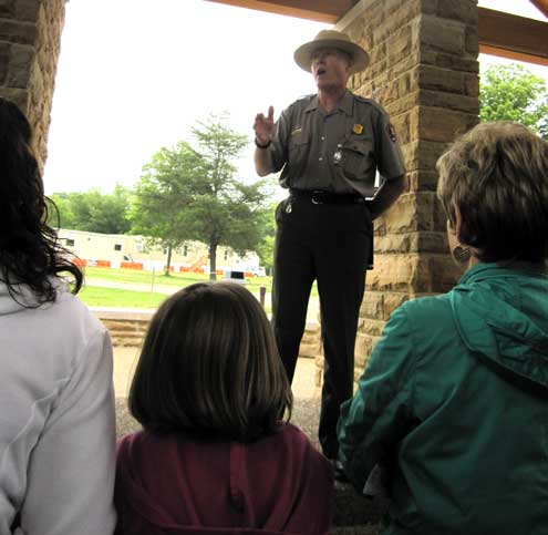 Ranger John led us on our tour of the Mammoth Caves