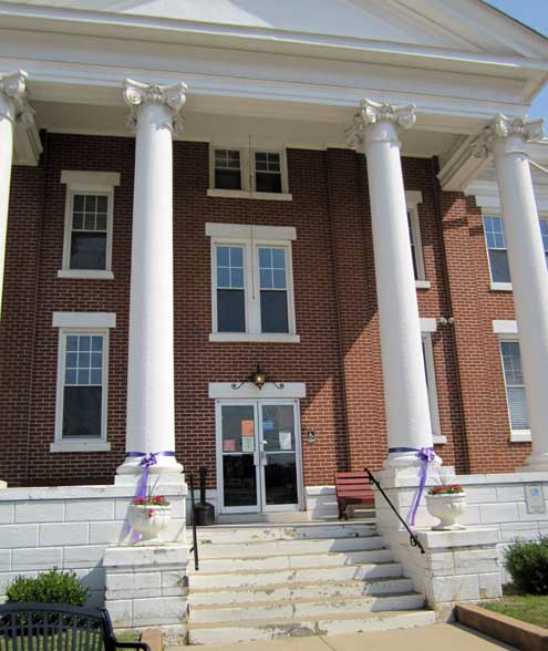 Spencer County Courthouse in Taylorsville, Kentucky