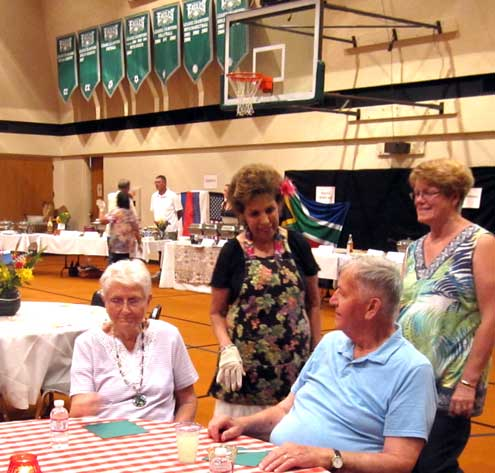 It's International Dinner night at Temple Baptist Church gym