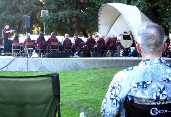 Watching the Lodi Community Band concert