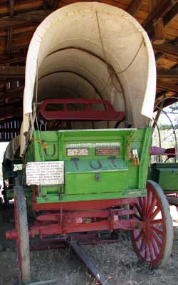 A wagon used to re-enact pioneer travel