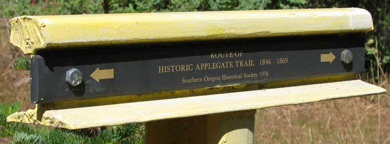 Applegate Trail Marker