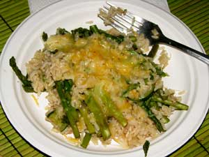 Brown rice/asparagus delight