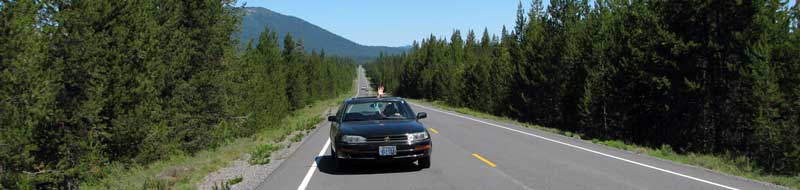 Driving the Cascade Lakes Scenic Byway