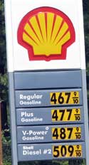 California gas and diesel prices are more than Oregon