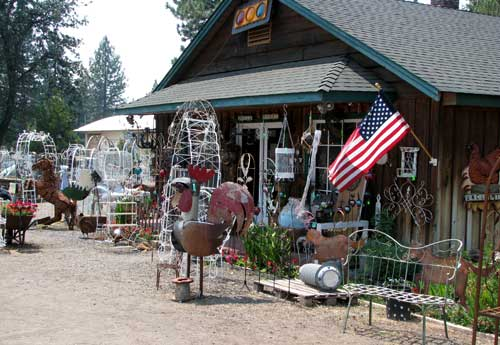 A yard art store in Burney