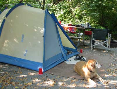 Tenting at Loeb State Park