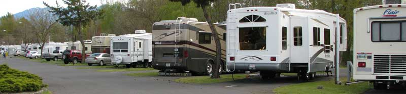 Transient end of Holiday RV Park
