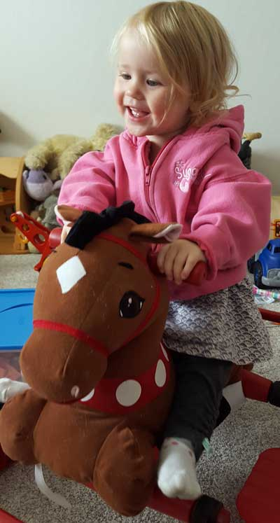 Elise loves to ride her horse
