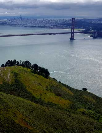 Golden Gate with San Francisco in the background
