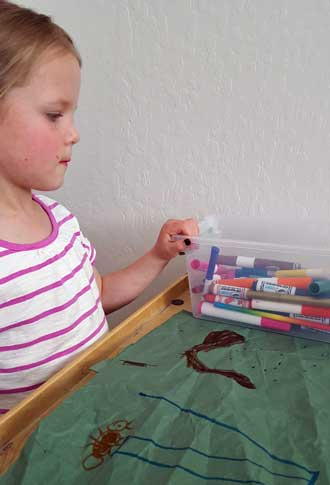 Lucy makes a book about an Ant and Worm
