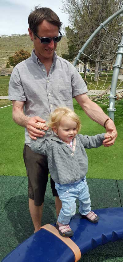 Elise with dad, Scott