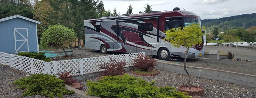 Mz Ruby parked at Timber Valley in Sutherlin