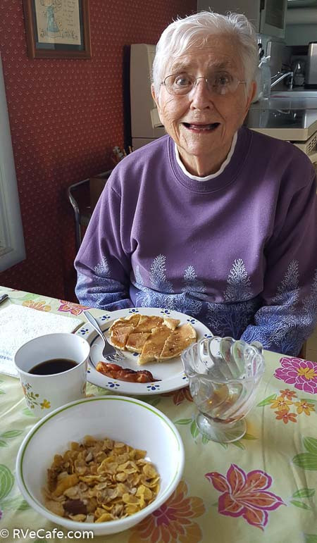 Mom is 92 today and hungry