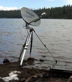 Satellite dish is about to be awash