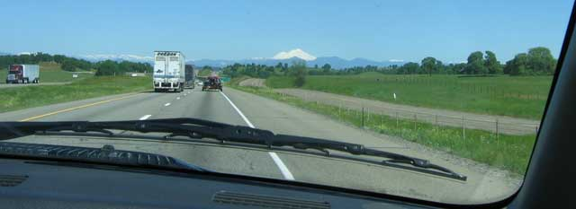 Returning to Oregon in Interstate 5, Mt. Shasta in the distance