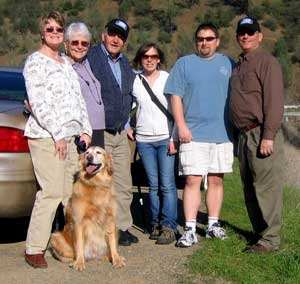 A meeting near the North Fork of the American River for Dad's birthday
