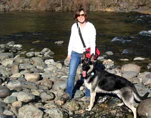 Mindy and Gunnar at the North Fork of the American River