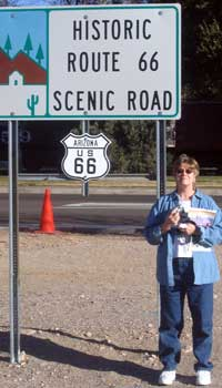 Historic Route 66 a Kingman sign