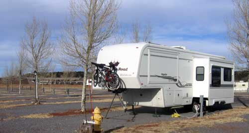 Our first RV campsite at Railside