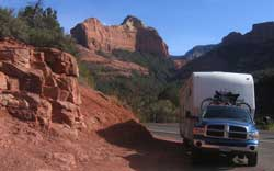 Roadside parking just north of Sedona