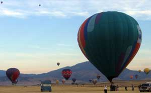 Montague, California Balloon Fair Dawn Launch