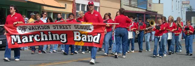 The only marching band in the parade