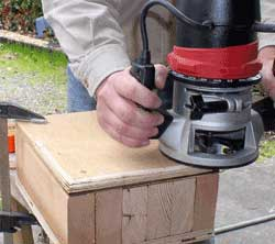 Round the edges using a router
