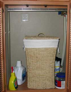 A new laundry shelf