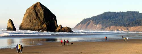 Haystack Rock from the south