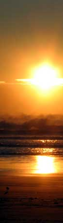 Sinking sun on Manzanita Beach